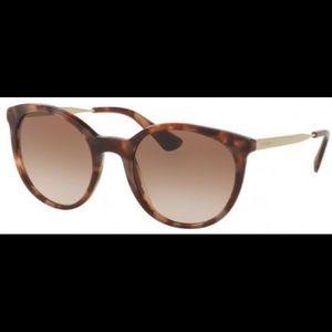 Prada❤️NEW❤️sunglasses SPR 175 spotted brown pink